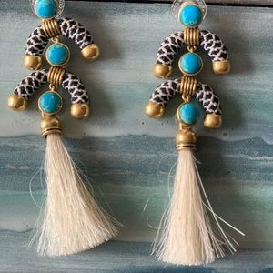 Stella & Dot Chandelier Earrings Tassel